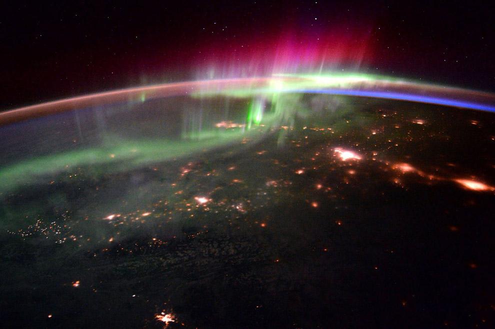 14. Заснеженные поля. (Фото Scott Kelly   NASA):