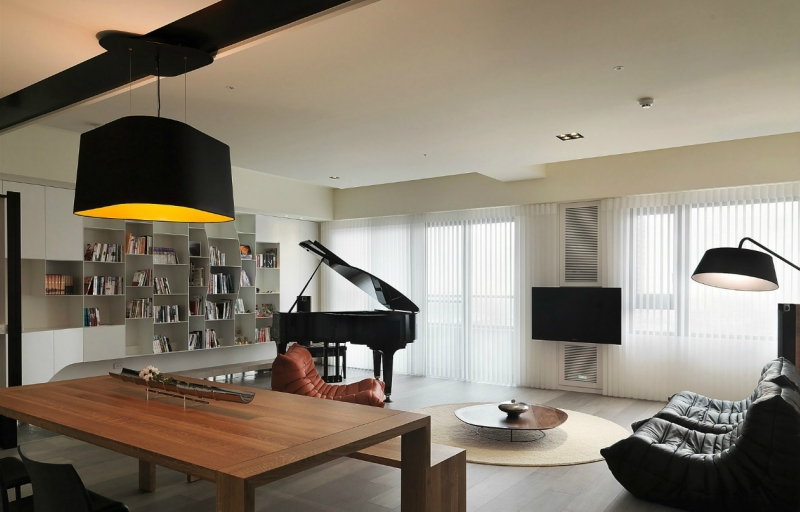 Пианино и рояль в дизайне интерьера фото 11
