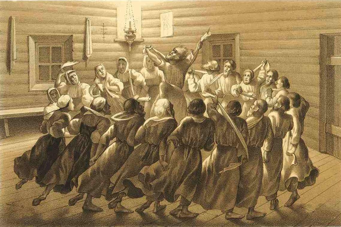 5. Радение корабельное. Литография из Исследования о скопческой ереси Даля 1844