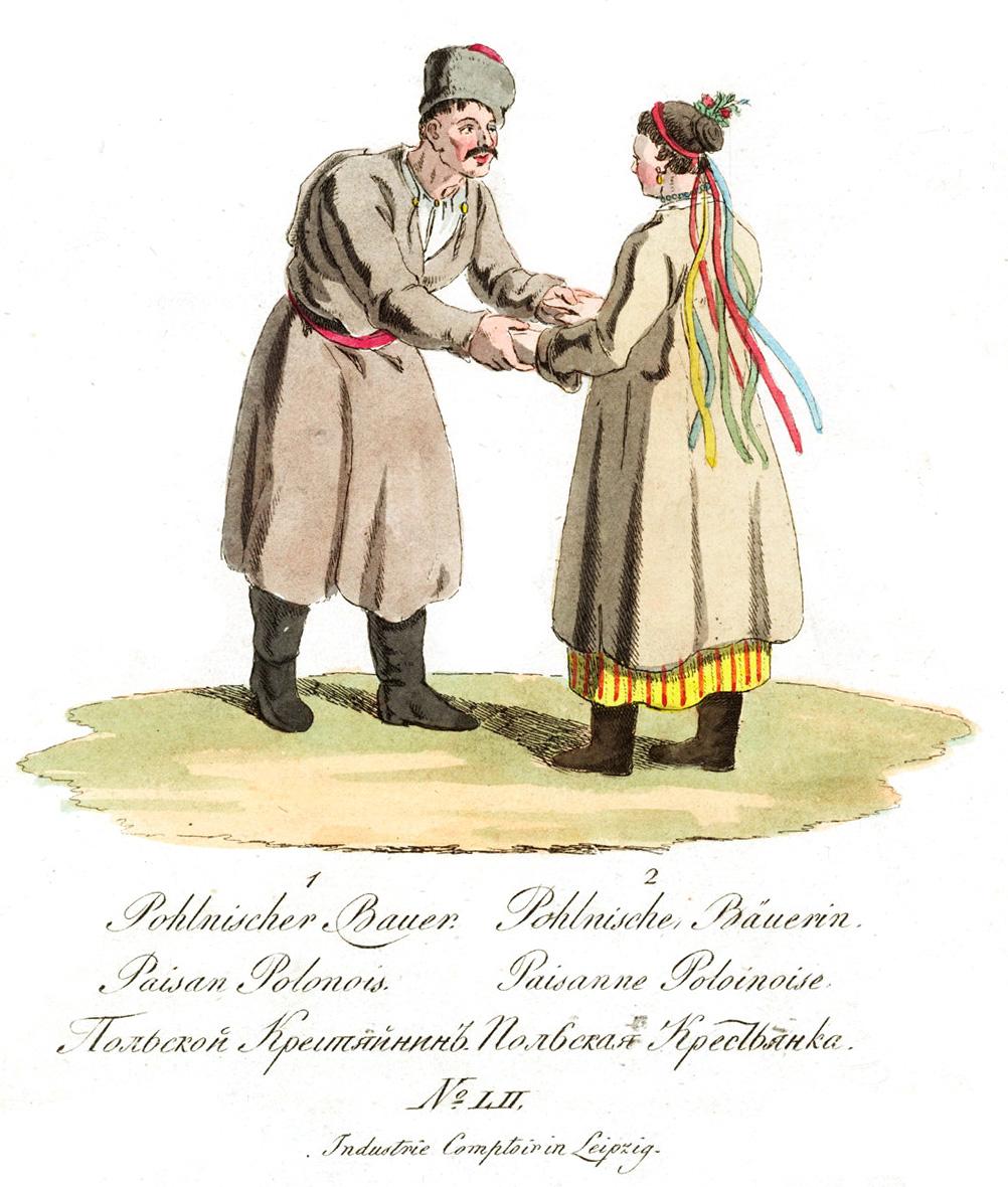 52. Польский крестьянин и крестьянка.