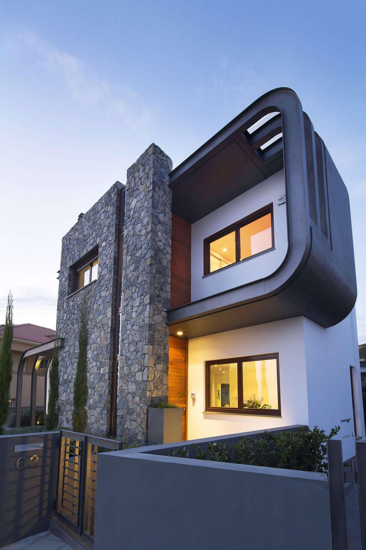 Laiki Lefkothea Residence, Tsikkinis Architecture Studio, планировка частного дома фото, интерьер частного дома фото, необычный частный дом фото