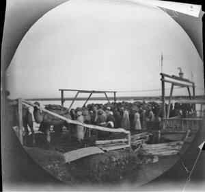 19 ноября. Чиназ. Разгрузка верблюдов с парома через реку Сырдарья