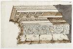 Чертеж, фрагмент Антаблемента в классическом стиле, Калифорния. 1770-90