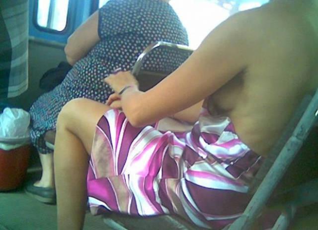 скрытая камера в электричке автобусе русское - 6