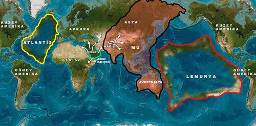 Прогнозируемая карта зон Атлантиды и Лемурии (континент Му).jpg