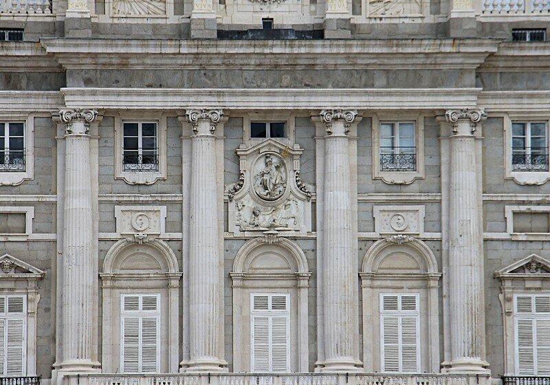 Madrid. The Royal Palace (Palacio Real). Main facade