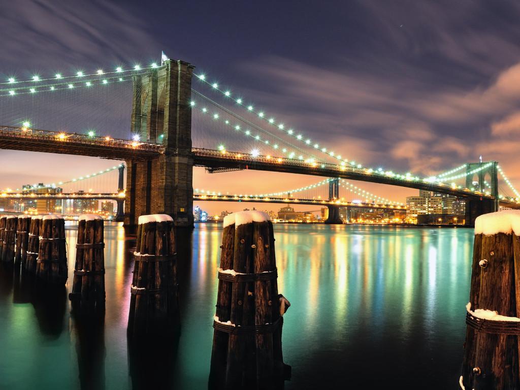 4. Бруклинский мост Нью-Йорк, США Один из старейших подвесных мостов в Соединенных Штатах соединяет