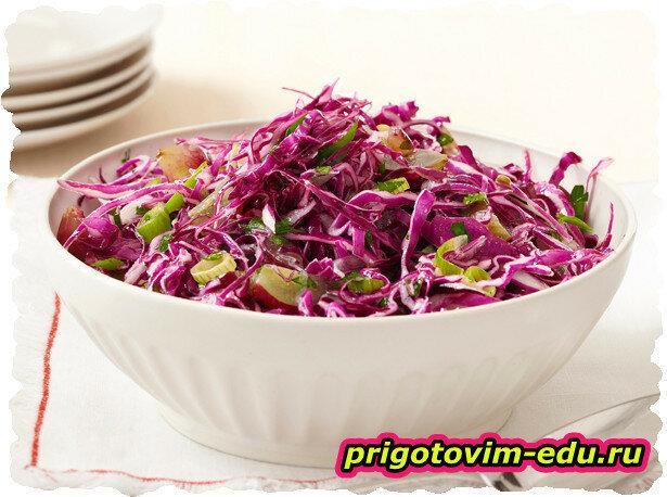 Салат «Красный» из красно-кочанной капусты