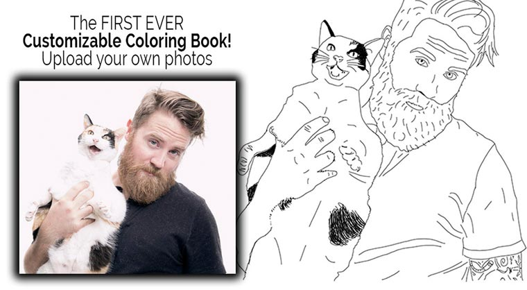 Color Me Book - Turn your Instagram pictures into a coloring book!