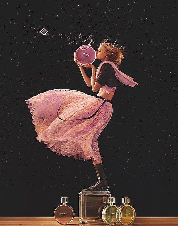 First look at Chanel Chance Eau Tendre/Eau Vive fragrances 2016 advertising campaign captured by fas