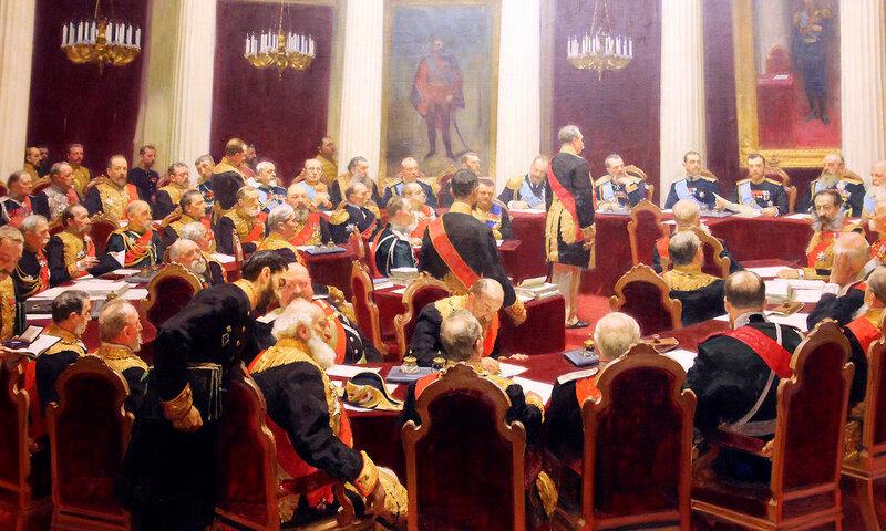 И.Е. Репин. Холст, масло, 1901 год.Торжественное заседание Государственного совета 7 мая 1901 года