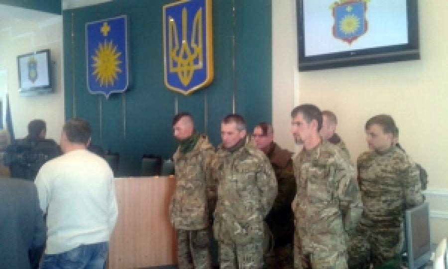 Бойцы ПС блокировали работу коррупционеров Кам'каменец-Подольского горсовета