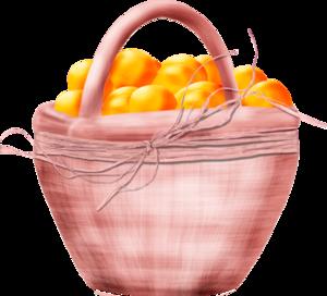 яблоки к корзине