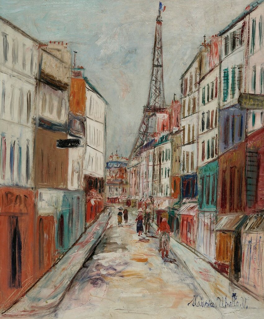 Saint-Dominique Street and Eiffel`s Tower, 1937-38.jpg