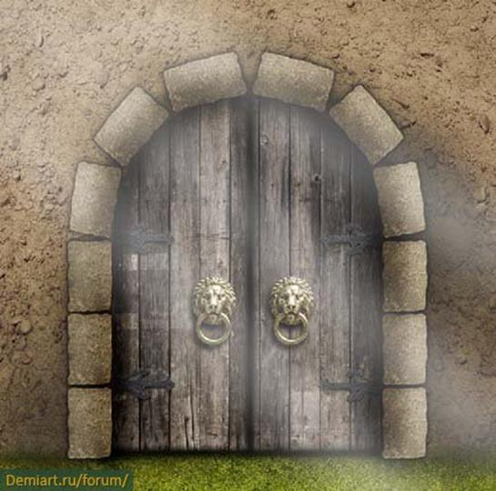 Уроки Photoshop: Сказочные средневековые ворота замка
