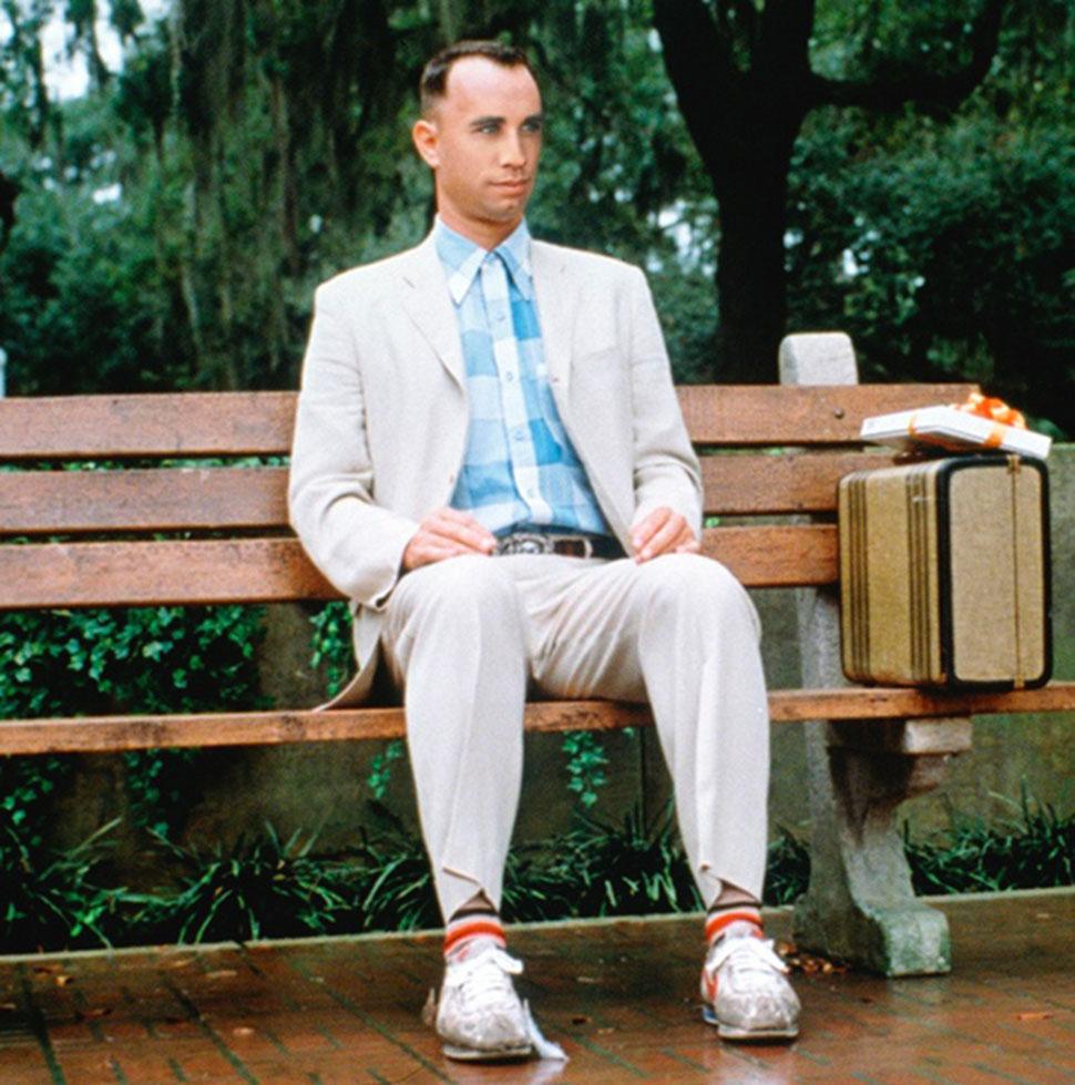 Джон Траволта в роли Форреста Гампа. Траволта отказался от «странной роли» в фильме «Форрест Гамп».