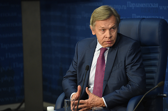 Пушков прокомментировал сообщения овведении визового режима с государством Украина