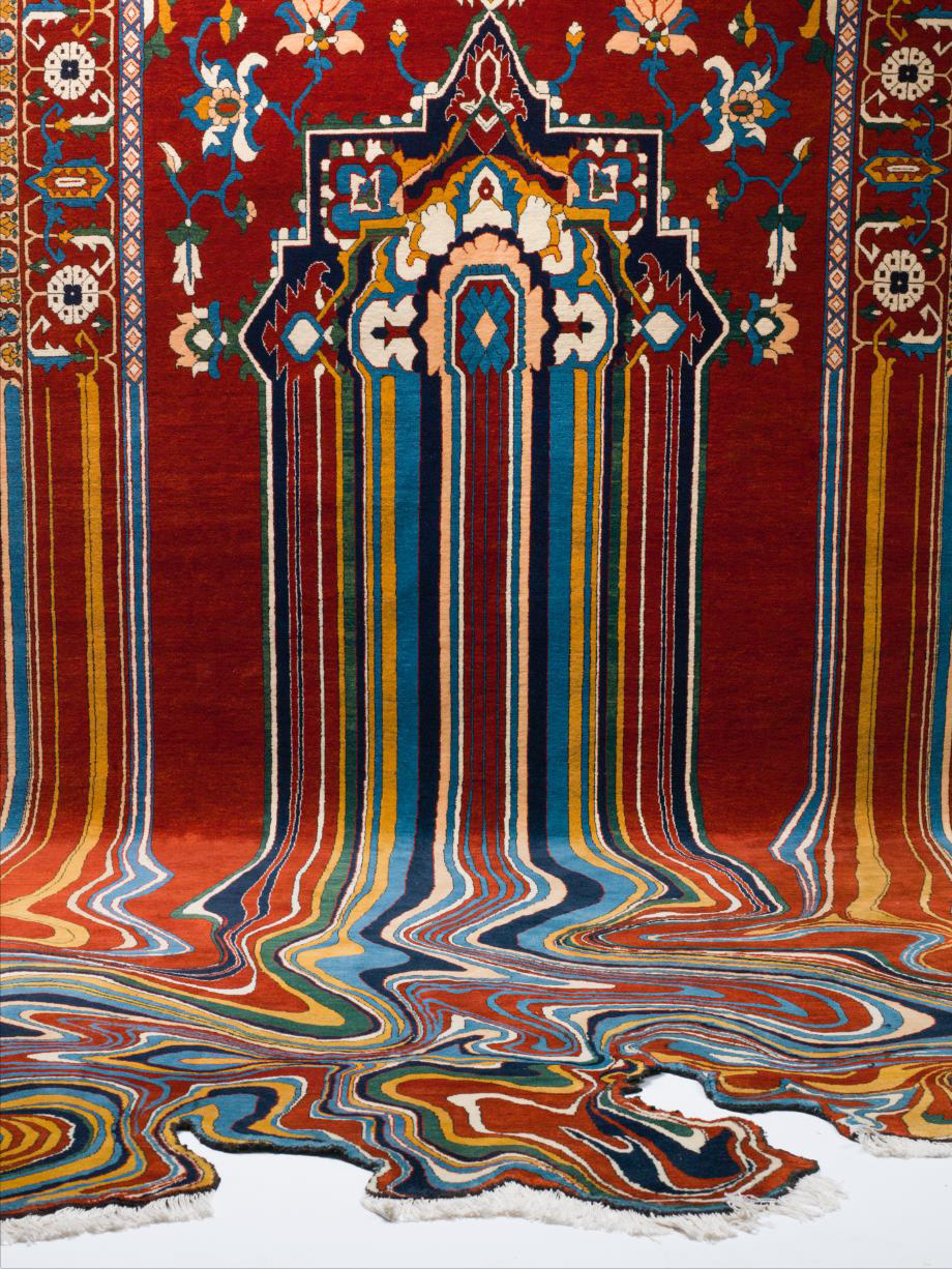 Faig Ahmed Creates Glitched-Out Contemporary Rugs from Traditional Azerbaijani Textiles (9 pics)
