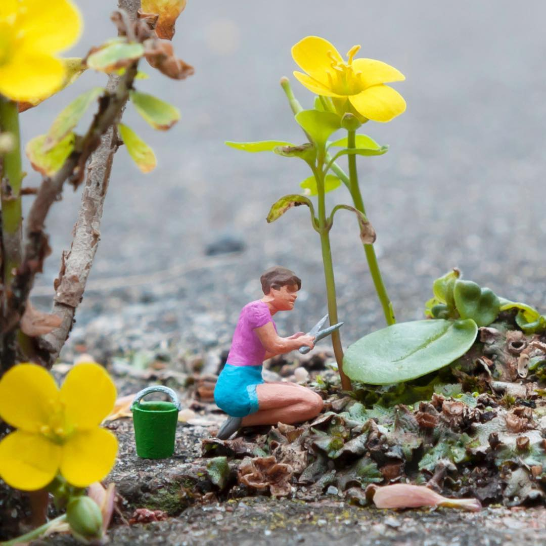 The Miniature Street Interventions of Slinkachu