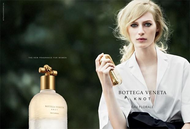 Supermodel Julia Nobis stars in Bottega Veneta Knot Eau Florale 's 2015 campaign captured by f