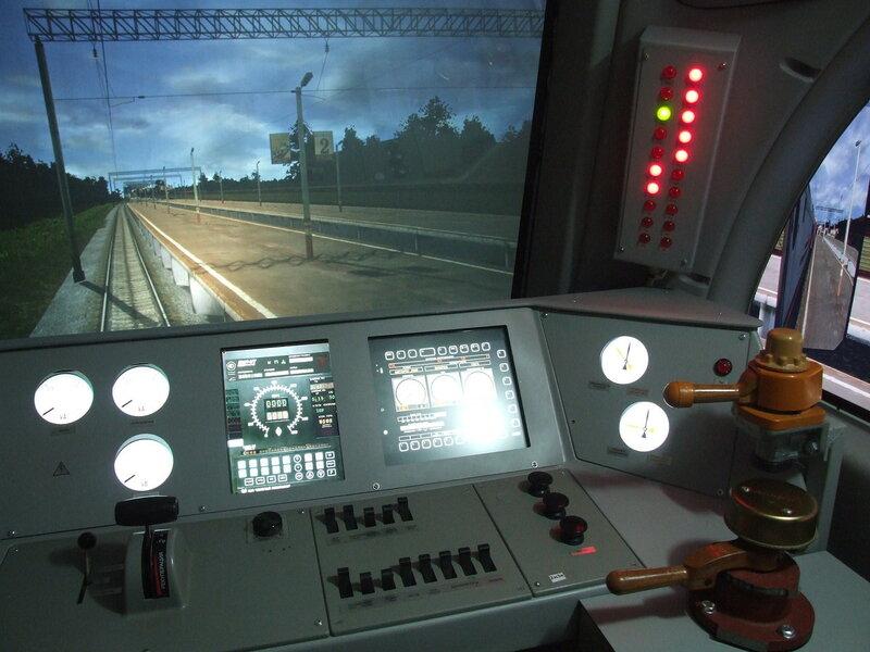 Пульт машиниста в тренажере электровозов серии Ермак.JPG