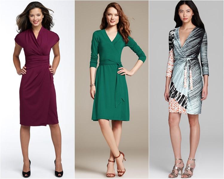 деловые платья с запахом 2016