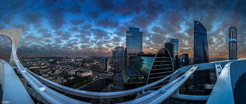 Москва-сити. С высоты 255 метров