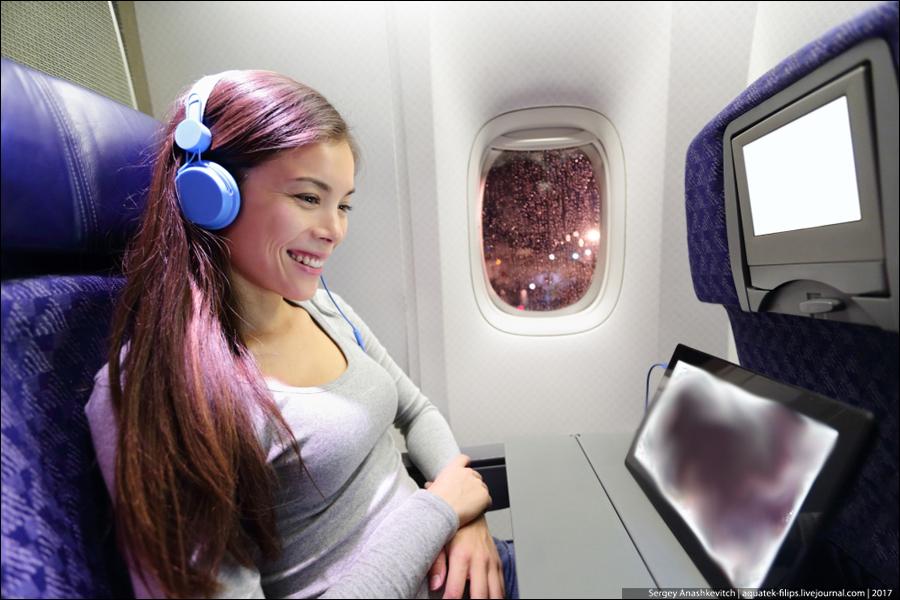 Порно в самолете пассажиров