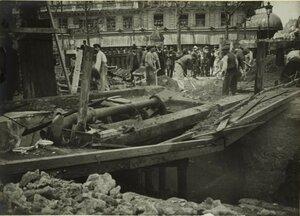 1914. Площадь Сен-Огюстен, строительство метро. 17 июня