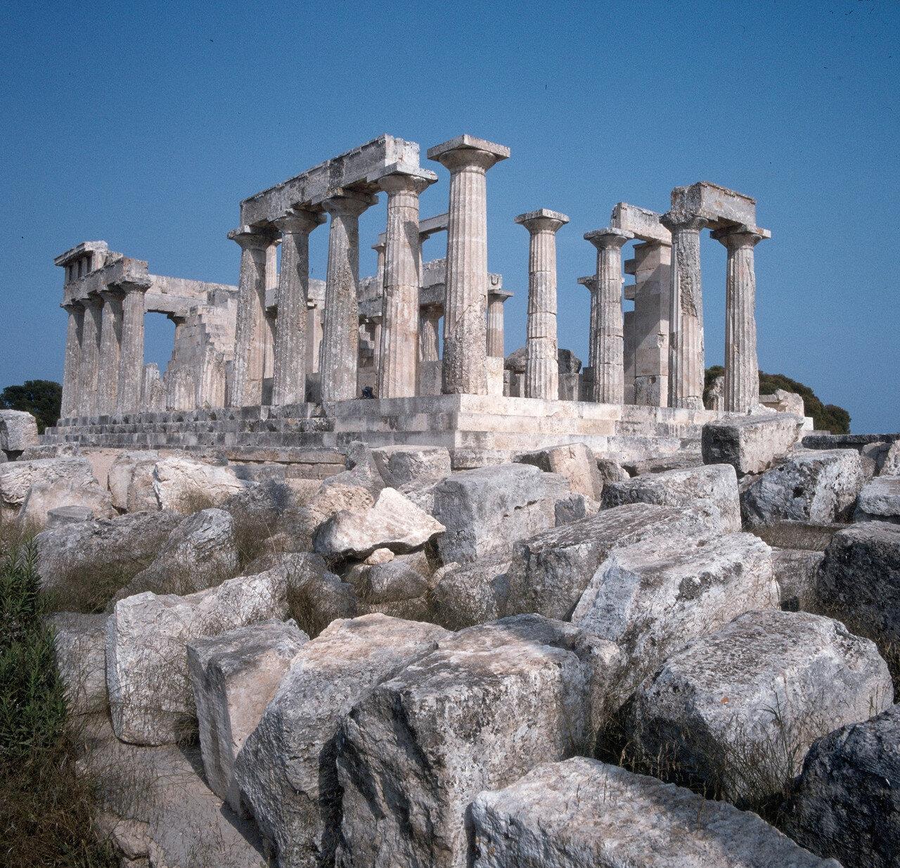 Эгина. Храм Афайи. Северо-западный угол