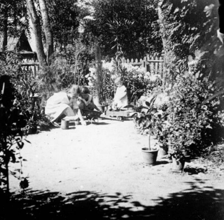 Три девочки в саду