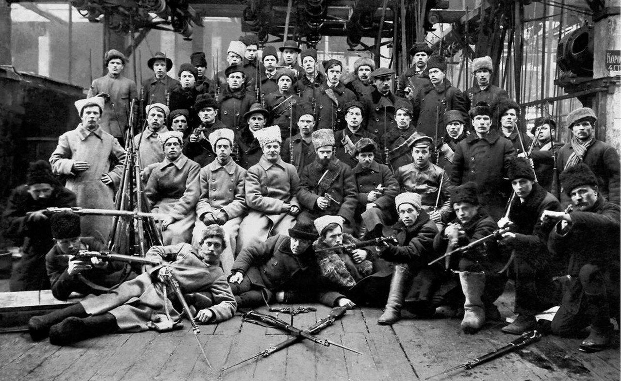 1918. Отряд Красной гвардии перед отправкой на дутовский фронт. 13 марта