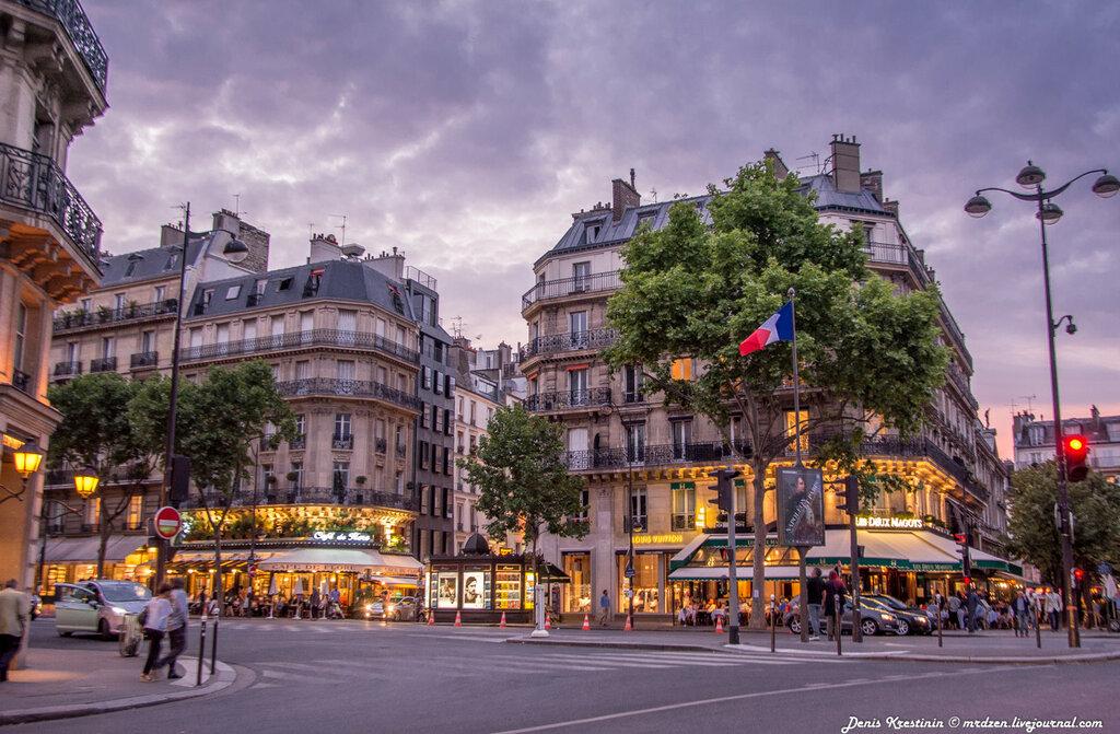 Париж закатный