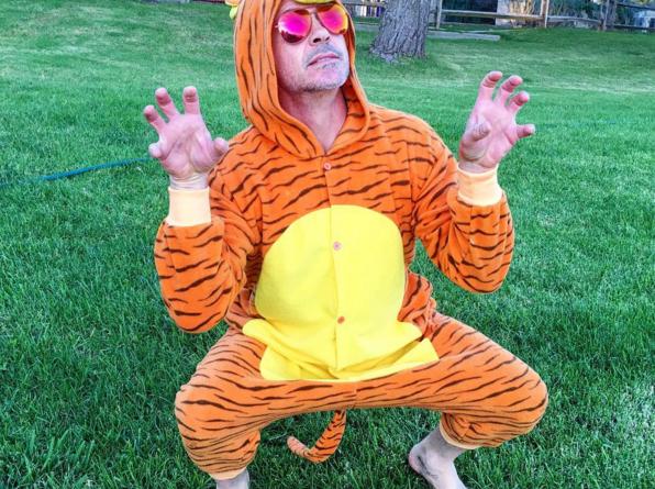 Роберт Дауни-мл примерял на себя костюм тигра