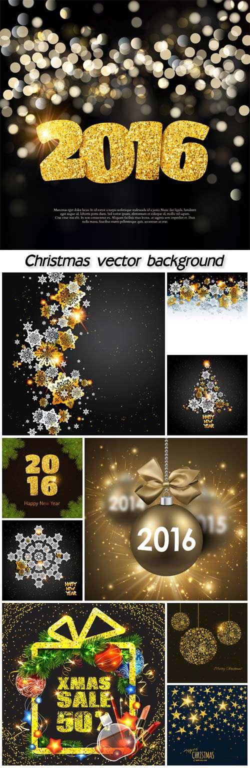 Новый год и Рождество - Фоны с блестящими снежинками