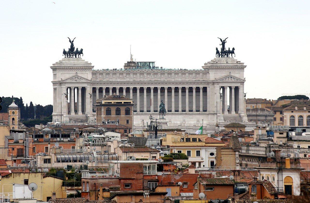 Рим. Вид с террасы аллеи Бельведер (Terrazza Viale del Belvedere)