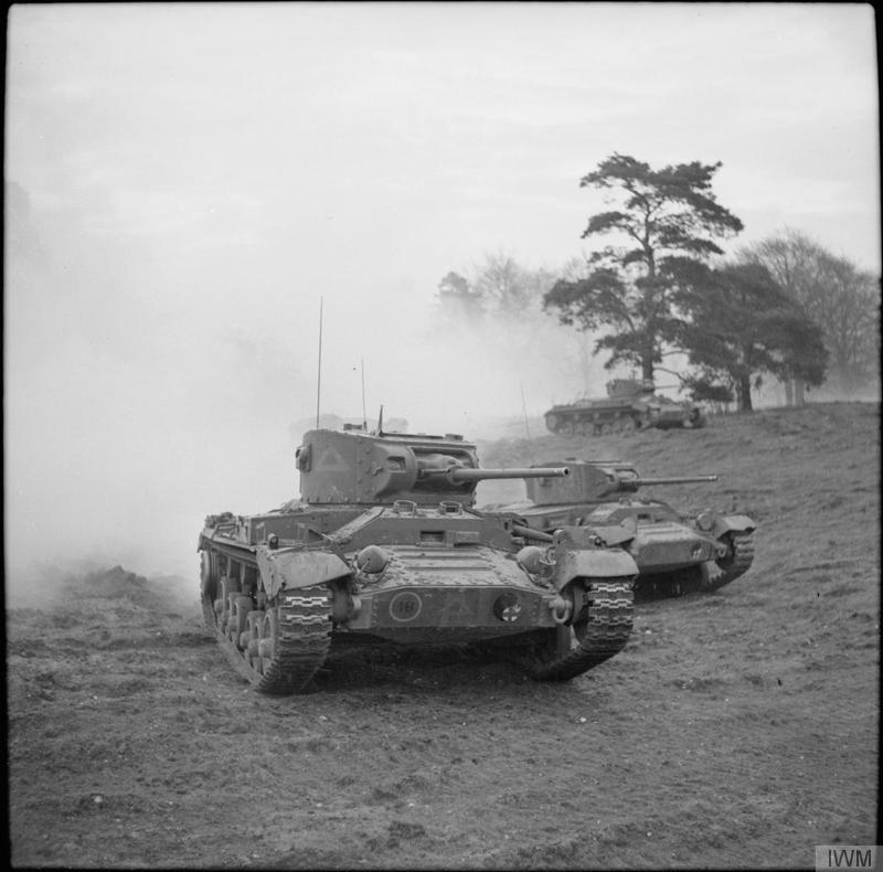 Valentine tanks advance during a training exercise, 20 December 1941