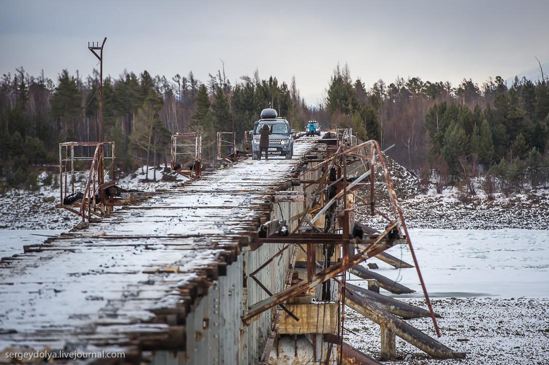 После «экватора» моста ехать уже было попроще: