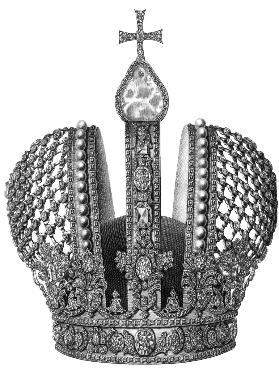 25. Х.А. Вортман № 23. Императорская корона. 1743 Резец. 37,2 х 33,5