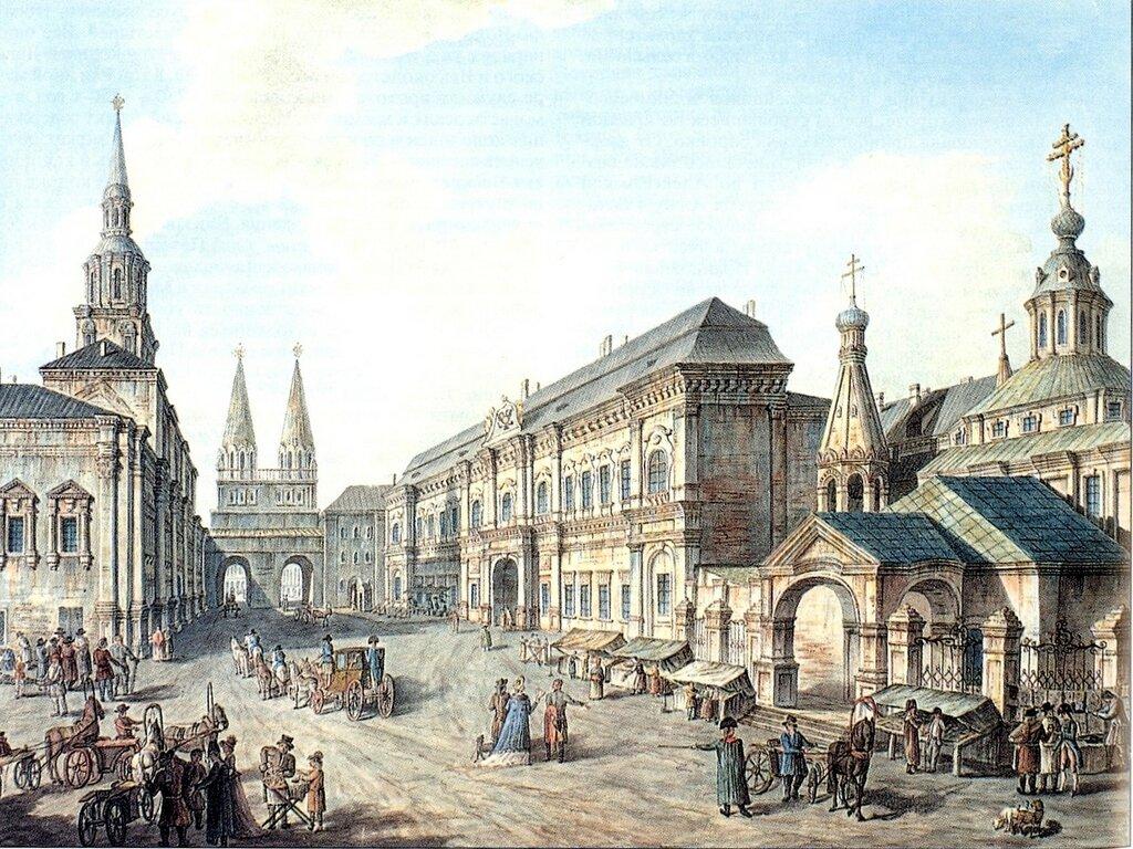 Алексеев Ф. Северная часть Красной площади 1800-1801.jpg