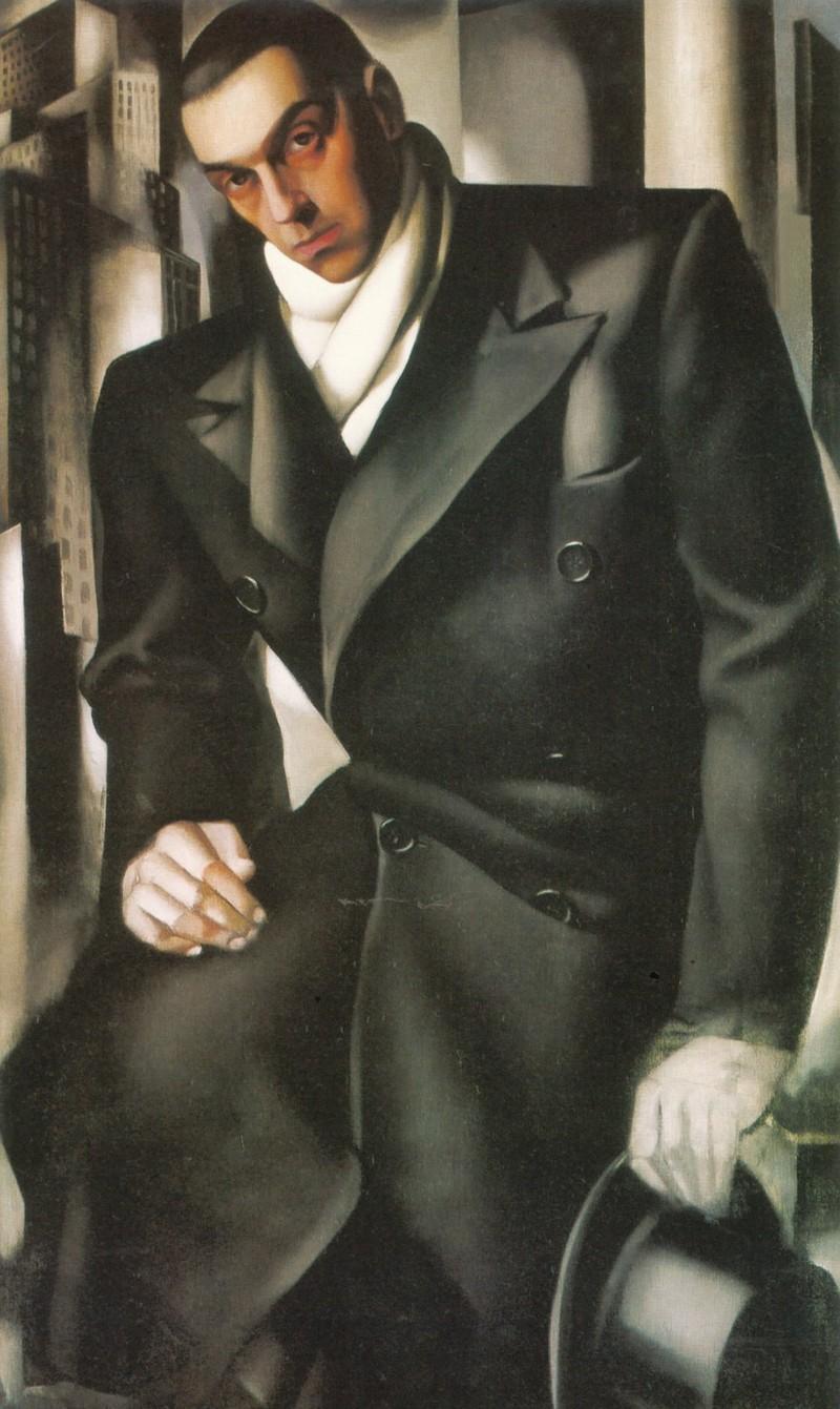 Портрет мужчины (Мистер Тадеуш де Лемпицки) Незавершенный портрет Тадеуша де Лемпицкого