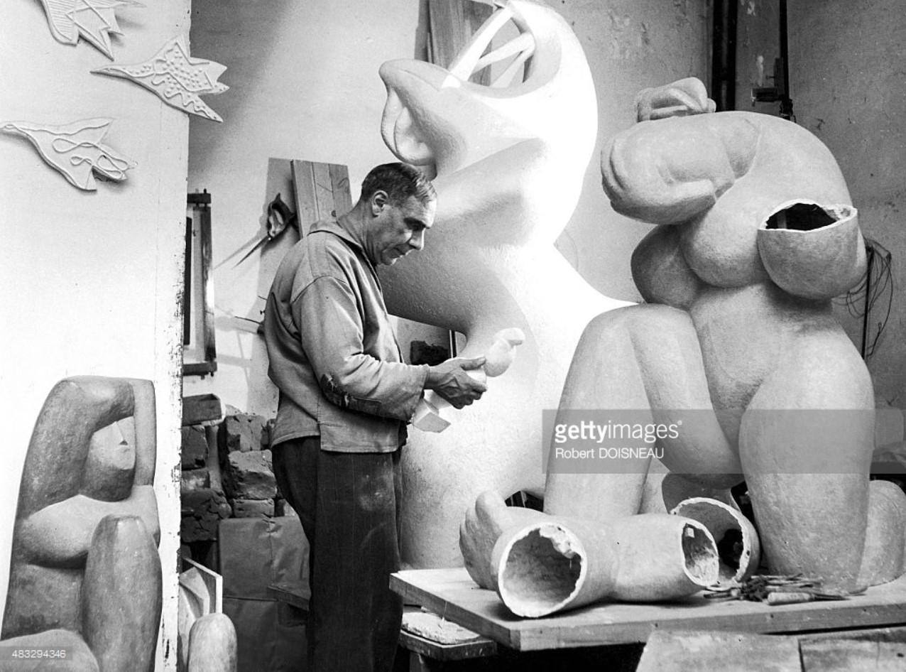 1940-е. Скульптор Анри Лоран