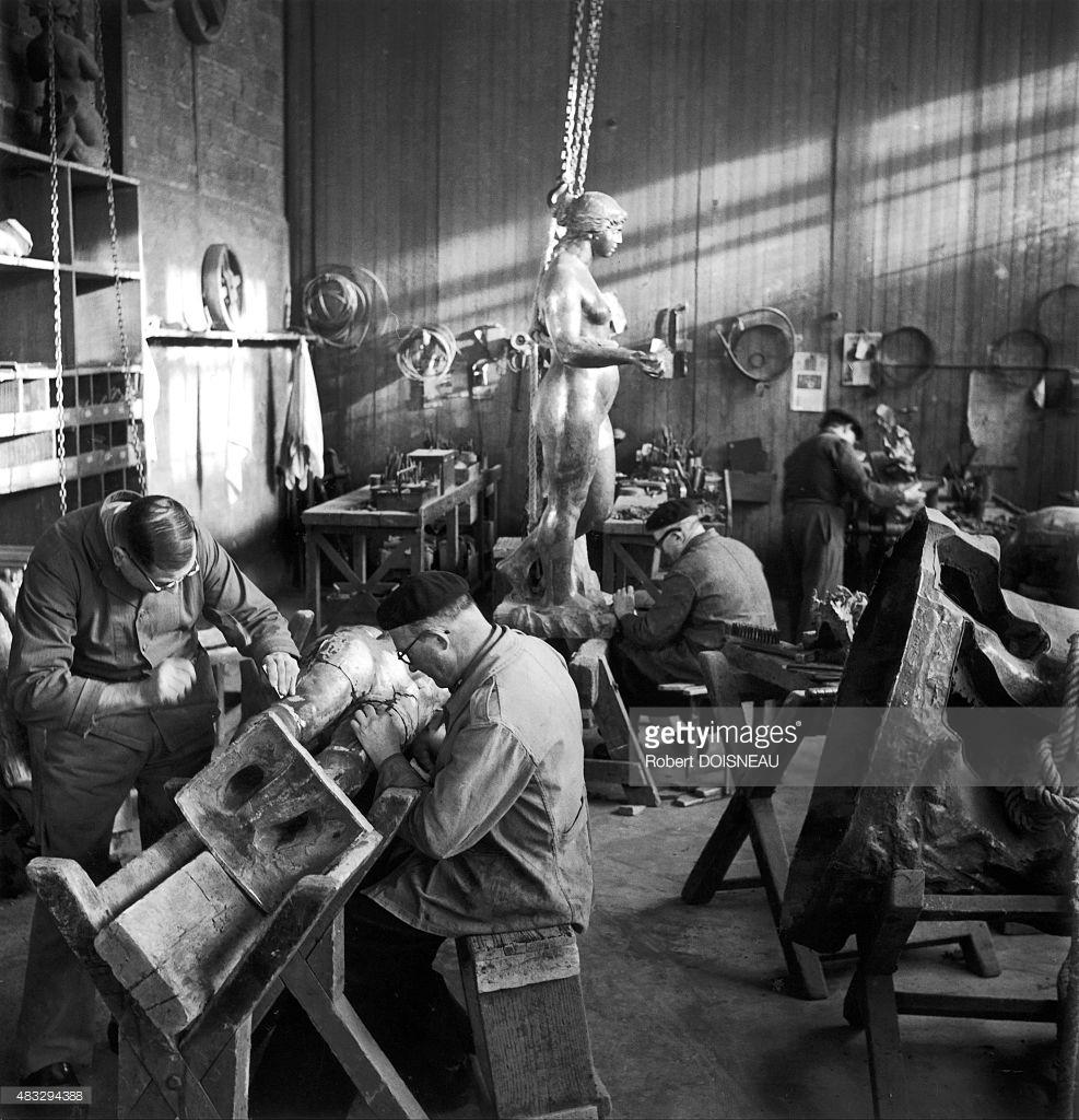 1950. Литейная мастерская  Юджина Рудиера