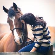 Конь и девушка