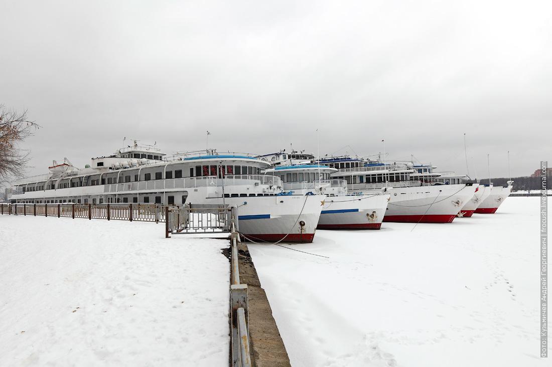зимующие теплохода в Захарково