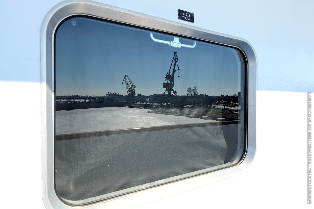 теплоход Дмитрий Фурманов окно каюты