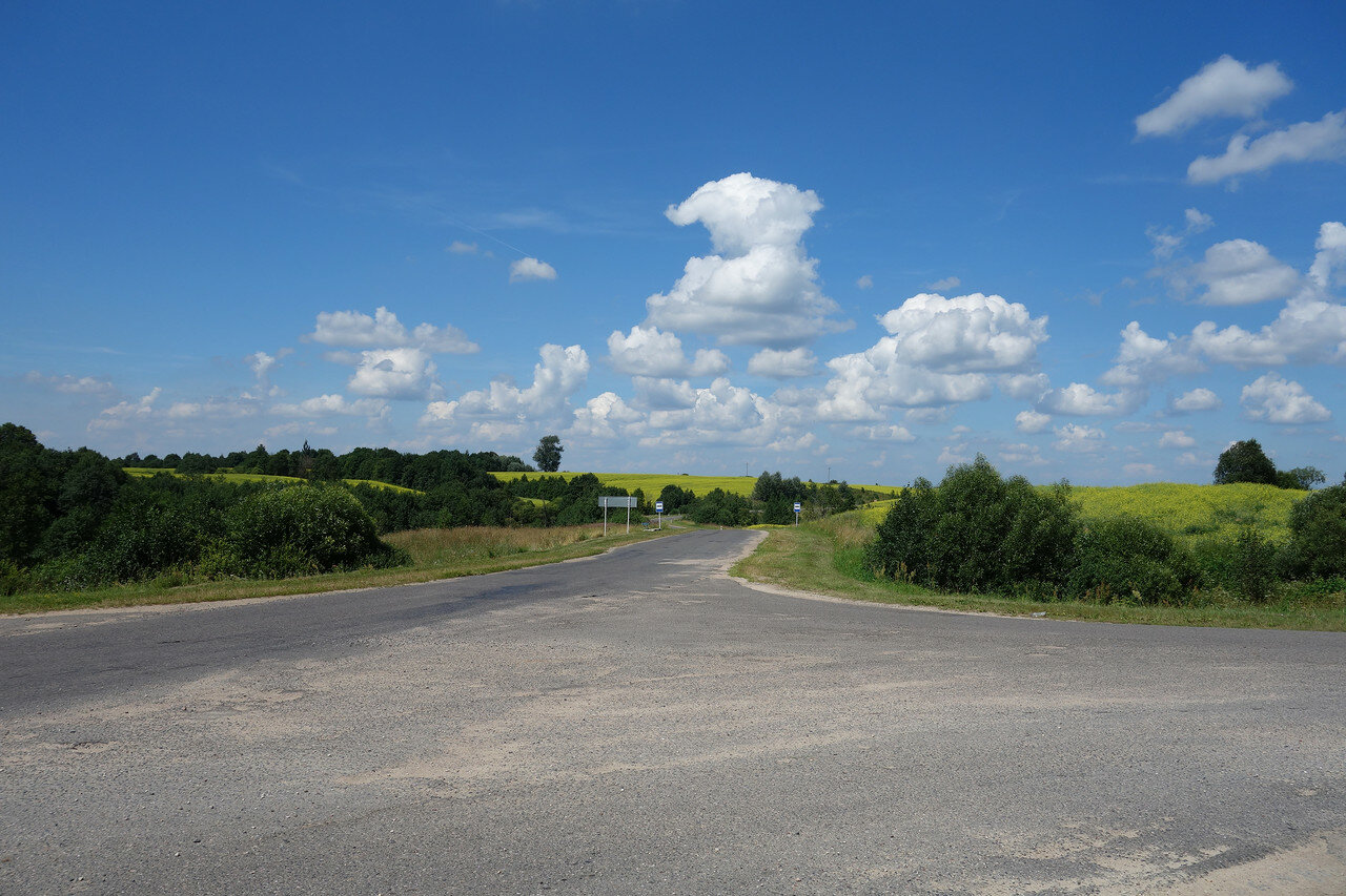 желто-зеленые холмы