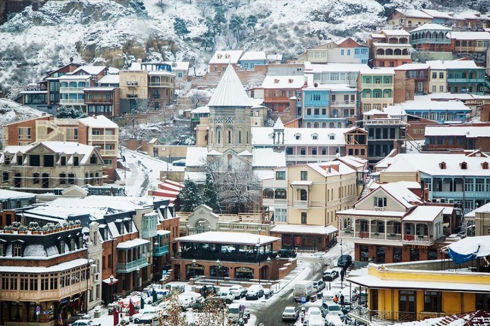 Тбилиси зимой.