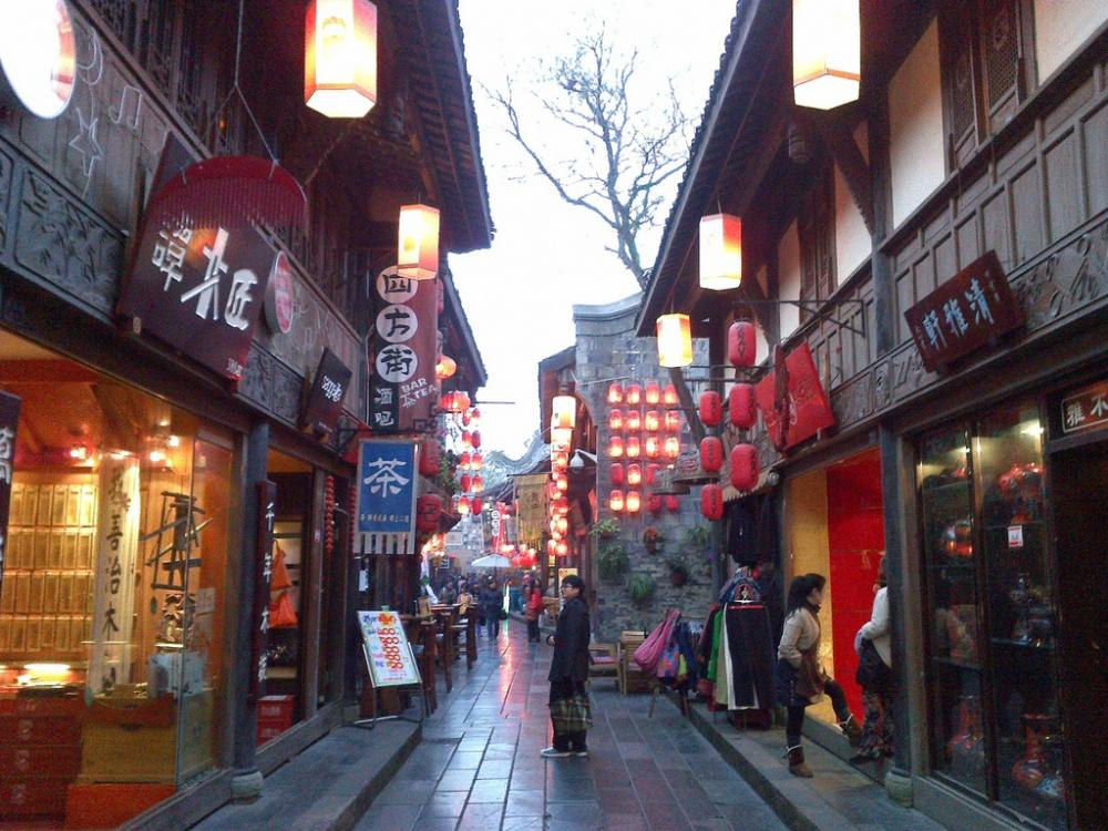 Улицы пригорода Чэнду изначально спроектированы так, что влюбую точку можно дойти пешком за15мину