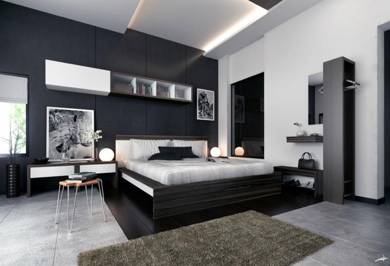 Черный цвет в дизайне интерьера фото 14